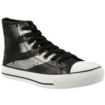 کفش کانورس مردانه چرم Converse Black Sail