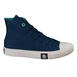 کفش اسنیکر کانورس سرمه ای Converse Suede Star