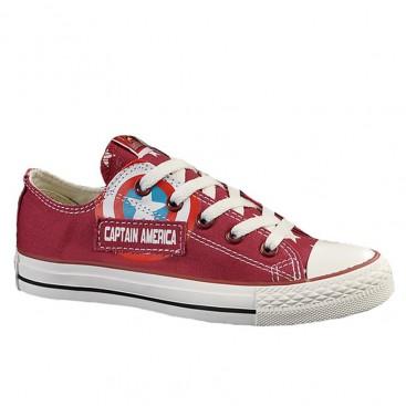 کفش کتانی کانورس زرشکی Converse Captain America