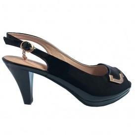 کفش ورنی پاشنه بلند زنانه
