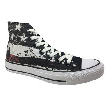 کفش ال استار ساق بلند Converse Black White