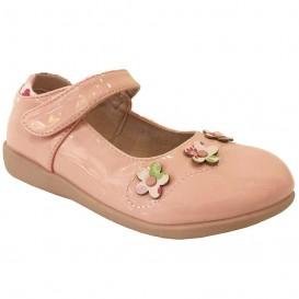کفش مجلسی ورنی دخترانه گل دار