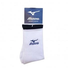 جوراب ورزشی حوله ای طرح میزانو سفید ساق بلند