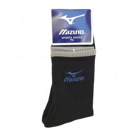 جوراب ورزشی حوله ای طرح میزانو مشکی ساق بلند