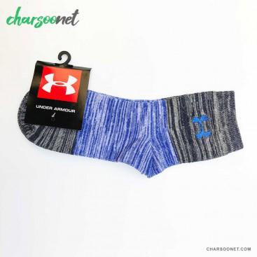 جوراب ورزشی طرح اندرآرمور آبی ساق بلند