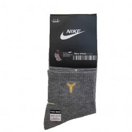 جوراب ورزشی طرح نایک طوسی ساق بلند