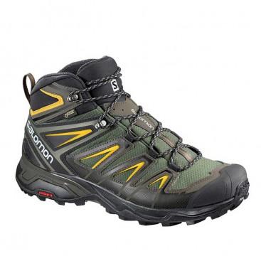 کفش کوه نوردی سالامون مردانه ضد آب مدل Salomon X Ultra 3 Mid GTX