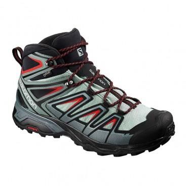 کفش سالامون مردانه ضد آب مخصوص کوه نوردی مدل Salomon X Ultra 3 Mid GTX