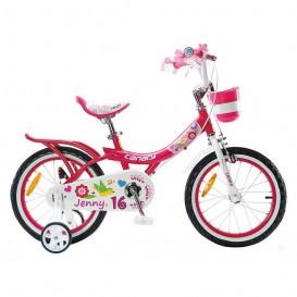 دوچرخه شهری قناری دخترانه مدل Jenny سایز 16 رنگ صورتی