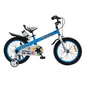 دوچرخه شهری قناری مدل Honey رنگ آبی سایز 16
