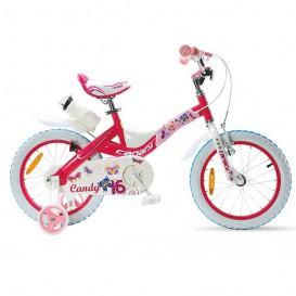 دوچرخه شهری قناری مدل Candy سایز 16 رنگ صورتی