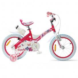 دوچرخه شهری قناری دخترانه مدل Candy سایز 16 صورتی