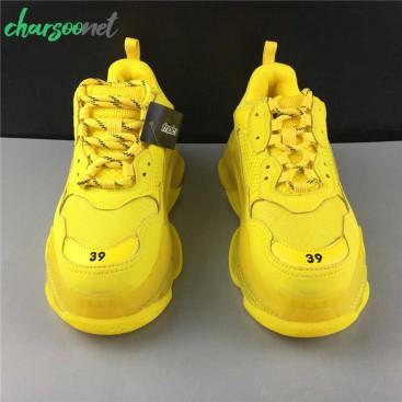 کفش اسنیکر زنانه بالنسیاگا مدل Triple S Yellow