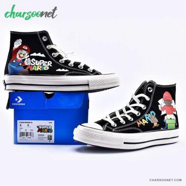 کفش کانورس ساقدار مدل سوپر ماریو Converse Super Mario