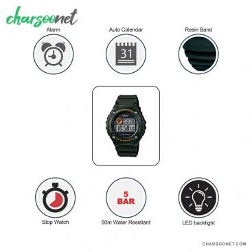 ساعت دیجیتالی مردانه کاسیو سری جنرال Casio W-216H-3BVDF