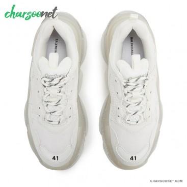 کفش اسنیکر بالنسیاگا مدل Triple S Cream