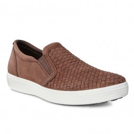 کفش راحتی مردانه چرمی Ecco Soft 7 کد 440354/02072