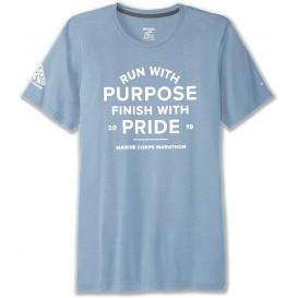 تیشرت ورزشی زنانه بروکس Brooks مدل PURPOSE PRIDE BLUE