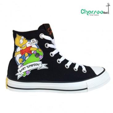 کفش ال استار کانورس مشکی Converse Bart Simpsons