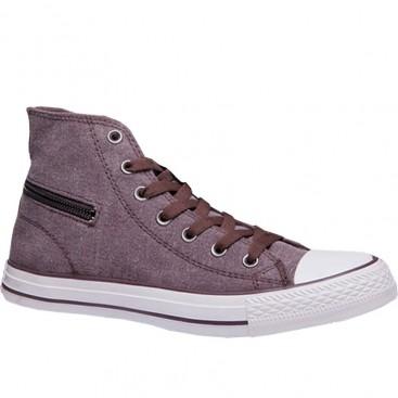 کفش ال استار کانورس زرشکی Converse High Tops Side Zip
